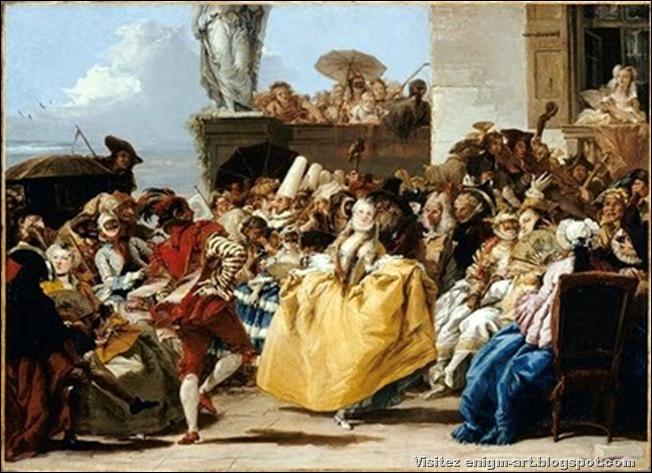 Tiepolo Gian Domenico, scene de carnaval