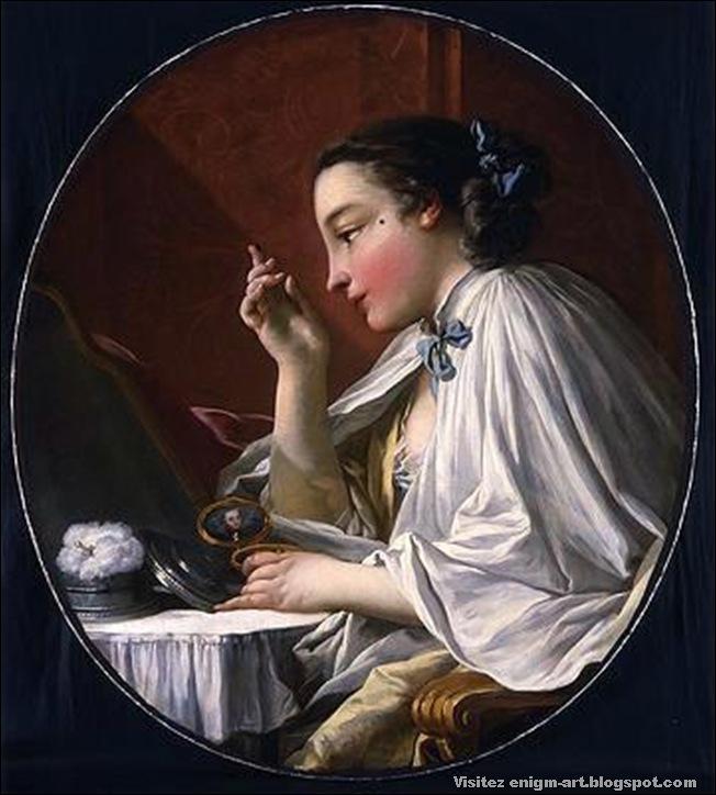 François Boucher  Une Dame à sa Toilette
