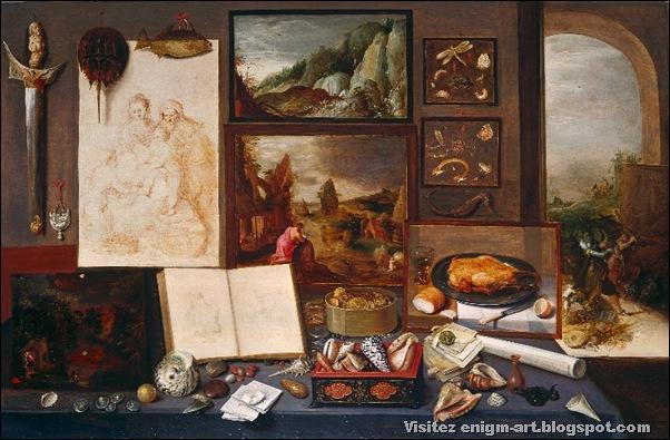 Frans Francken le Jeune, Cabinet de curiosité,1617
