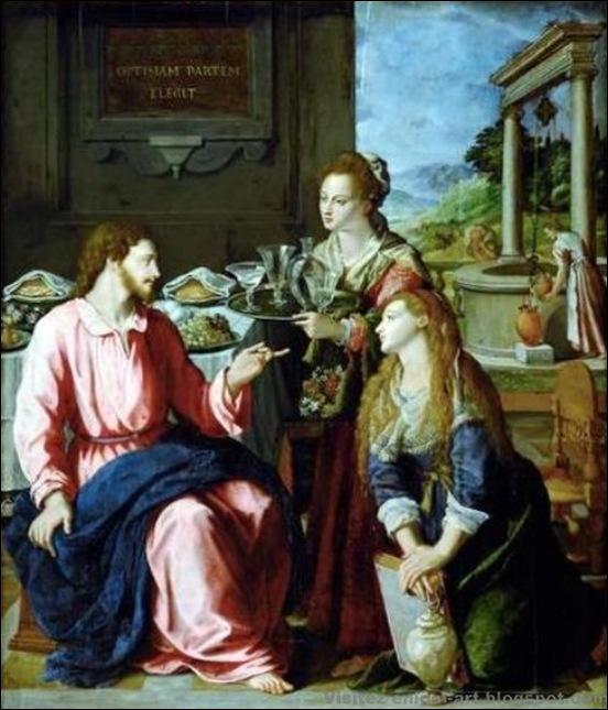 Alessandro Allori, Le Christ avec Marie et Marthe, 1605