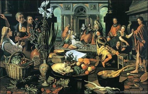 Peter Aertsen, Le Christ dans la maison de Marthe et Marie, 1553