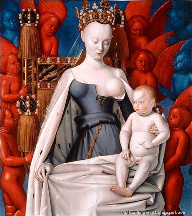 Jean Fouquet, Vierge à l'enfant, 1450