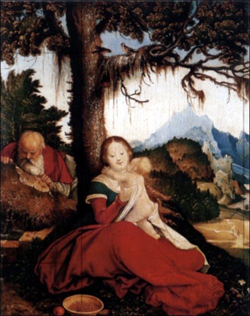 Hans Baldung Grien, Sainte famille, 1514