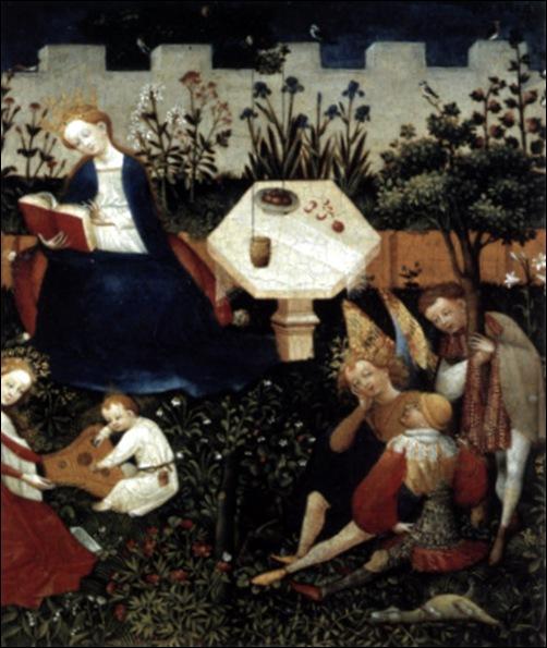 Maître Bohème, Marie dans le jardin du paradis, 1410