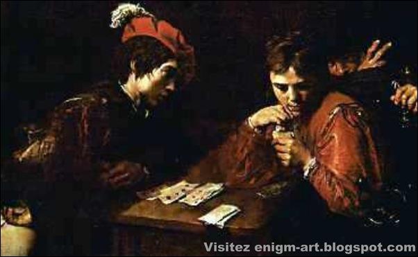 Valentin de Boulogne, Les joueurs de cartes, 1616