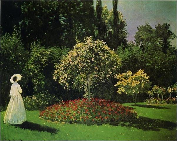 Claude Monet, Dame au jardin