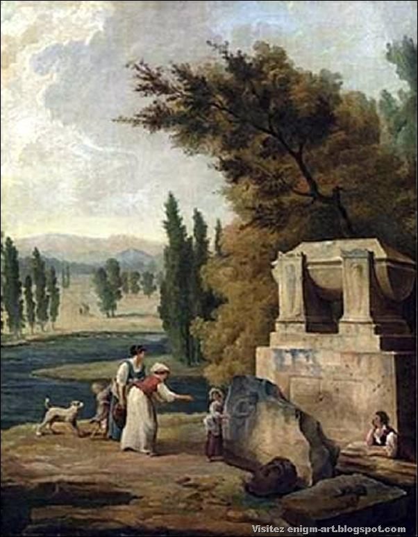 Hubert Robert,Les jardins d'Ermenonville, 1780