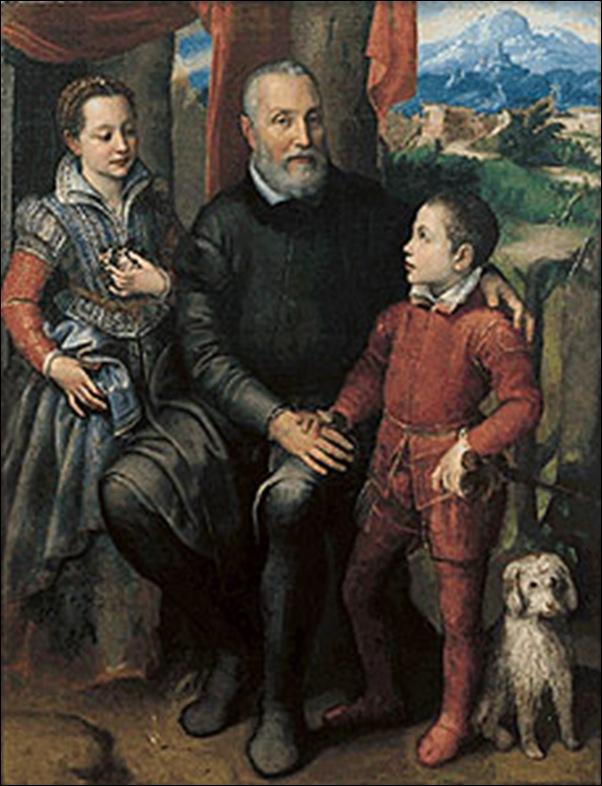 Sofonisba-Anguissola, Minerva et son père