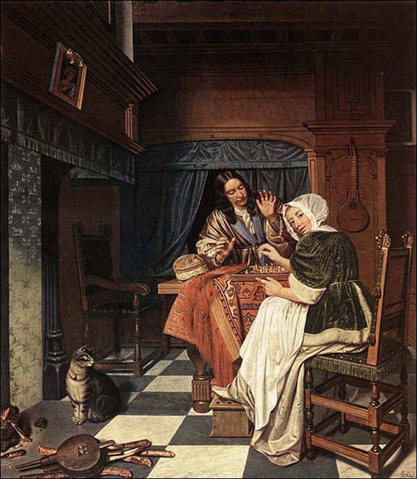 Cornelis de Man, Les joueurs d'échecs 1670