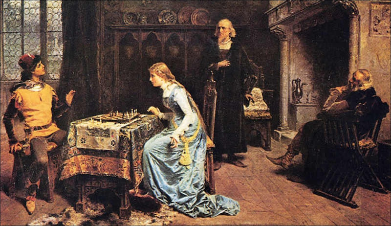 Gerolamo Induno, La partie d'échecs 1881