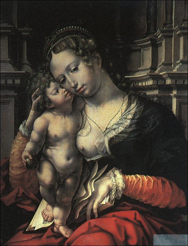 Jean Goessart Mabuse, La Vierge et l'enfant