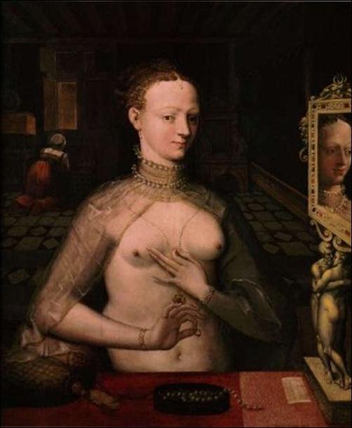 Ecole de Fontainebleau, Dame à sa toilette