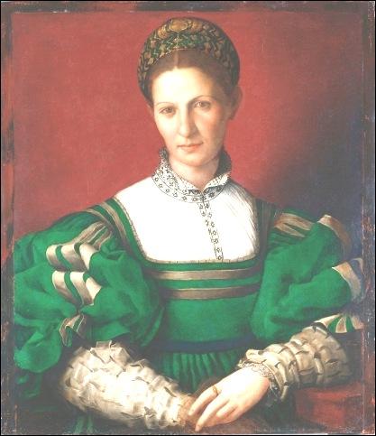 Bronzino,Portrait de femme 1530