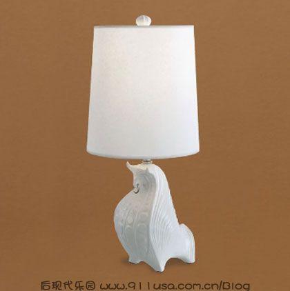 陶瓷动物灯