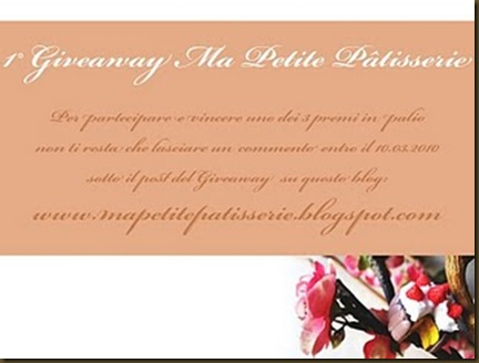 1° giveaway ma petite patisserie