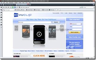 Membuka Vuclip Dengan Browser Komputer