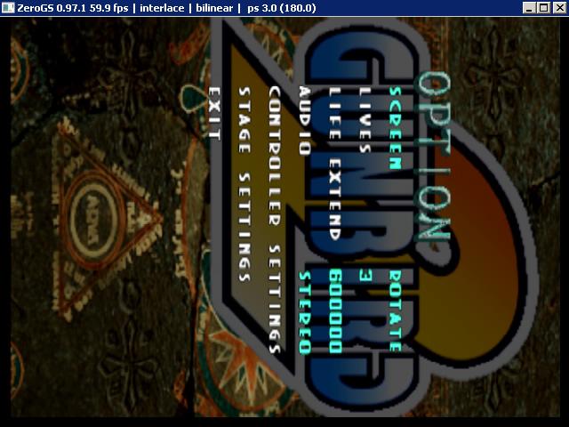 Gunbird_Special_Edition_PCSX2_Gunbird_option_screen_rotate