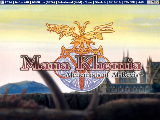 Mana Khemia Alchemists of Al-Revis 開場 CG 的黑色細豎線