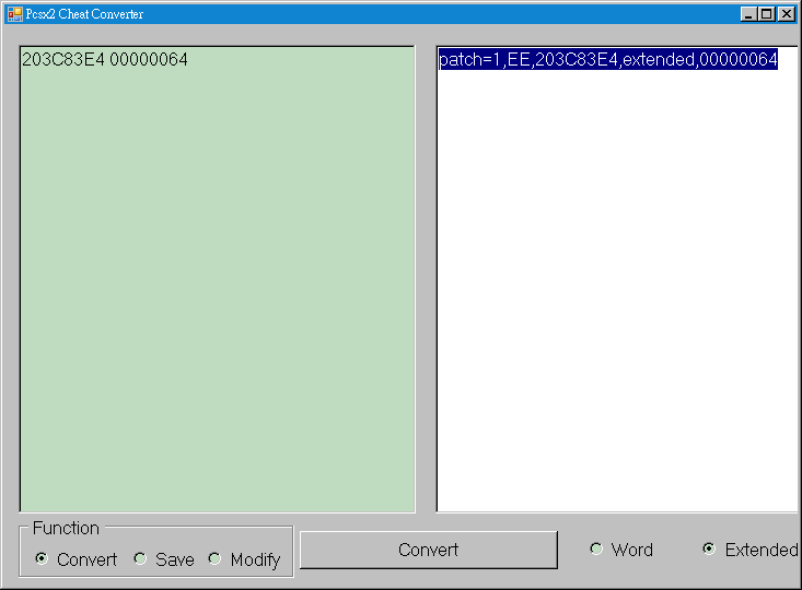 Pcsx2_Cheat_converter_Convert