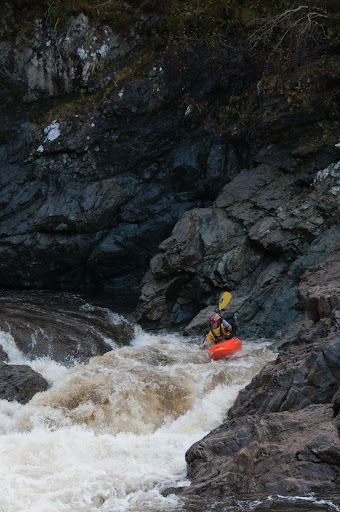 Hitting my line on the Spean Gorge