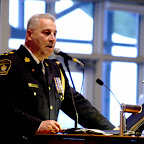 York Regional Police Chief Armand La Barge presenting his speech
