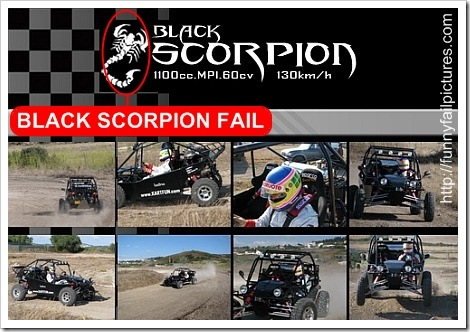 Black Scorpion Funny Fail Picture.