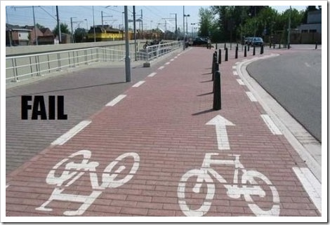 Fail Bicycle Sign.