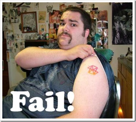 Computer Graphics Tattoo Funny tattoo fail | Man with tattoo on his arm.