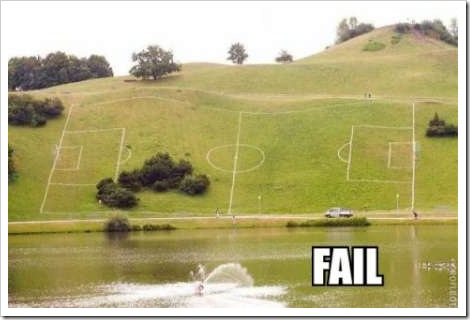 Soccer field fail.