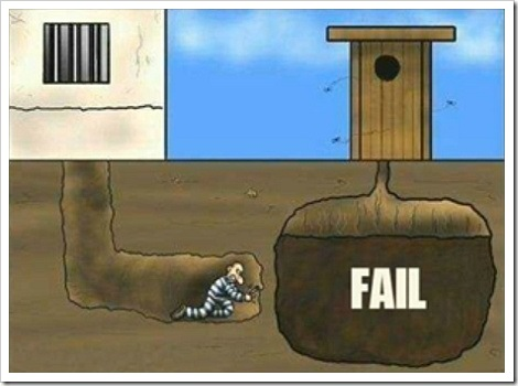 Prison break funny fail cartoon.