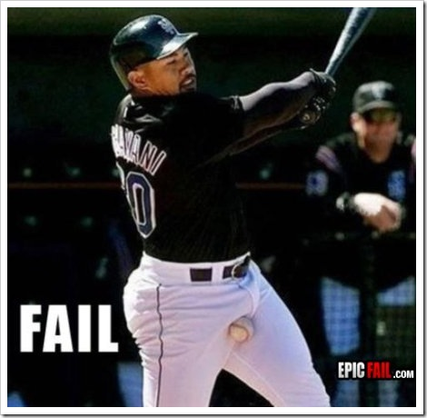Funny Baseball Fail | Baseball player failing to hit the ball.