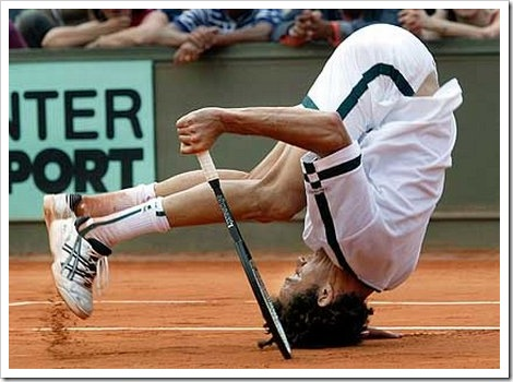 Tennis fail picture.