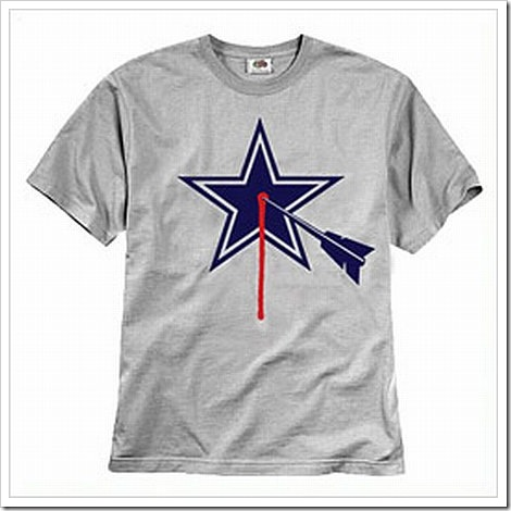 Funny Dallas Cowboys Shirt Bloody Star.