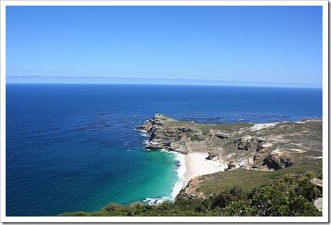 Cape Town Table Mountain - View of the sea.