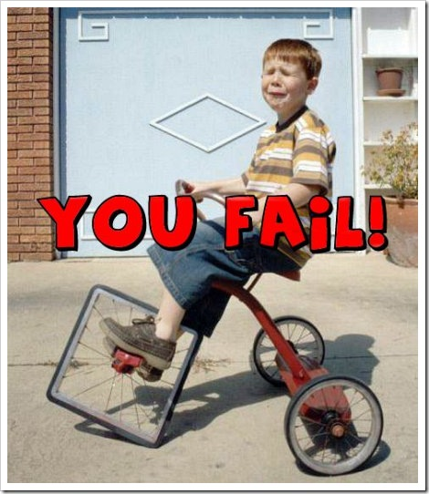 Tricycle Wheel Fail.