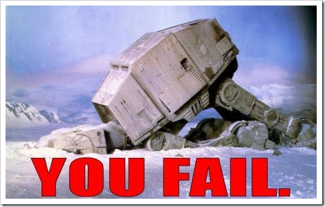 Star Wars Fail.