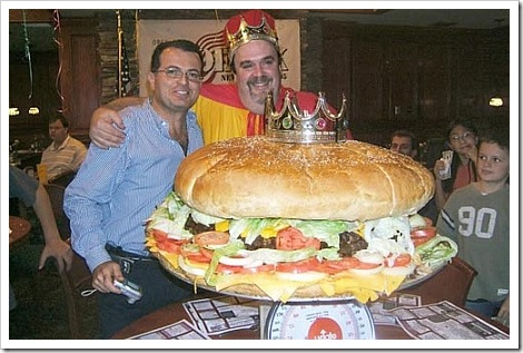 Worlds biggest hamburger.
