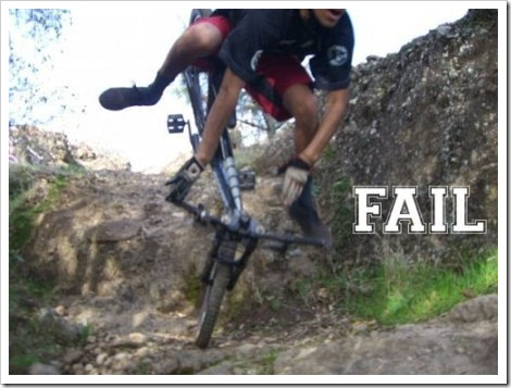 Bicycle Fail.