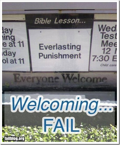 Welcoming Fail - Everlasting punishment.