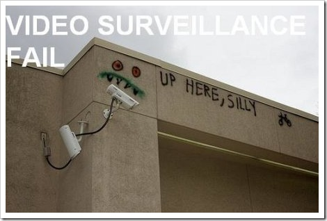 Video Surveillance Fail.