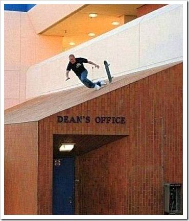 Skate fail at deans office.