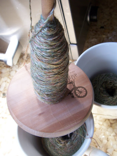 Plying on the Asford spindle.