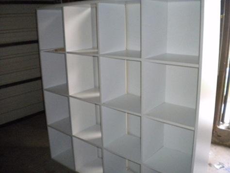 cubby shelf before