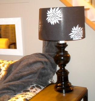 Junkin Junky Stencilled Lamp Shades