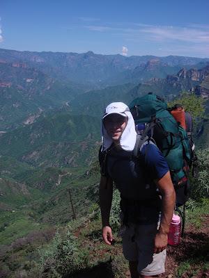 Joshua hiking Copper Canyon.