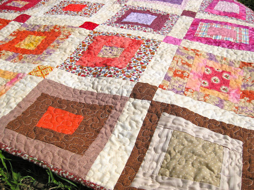 Wonky log cabin scrappy quilt a beginner s tutorial Sewn Up