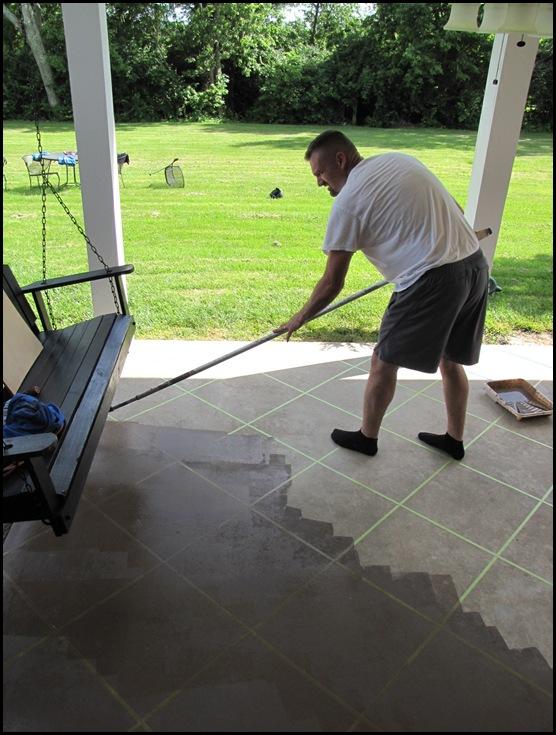 floor stain new tile patio floor reveal beneath my heart