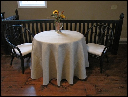 Attrayant How To Make A Round Burlap Tablecloth
