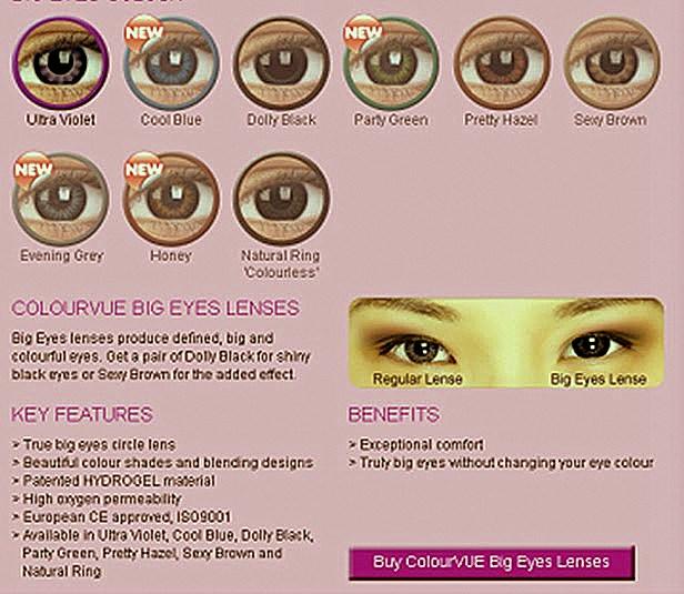 Beautiful Eyes Contact Lens Colourvue Big Eyes Lens