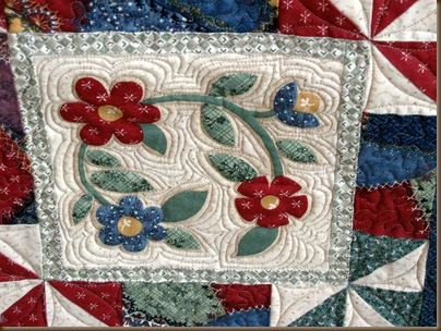 Marti Thimbleberry Lazy Crazy detail quilt